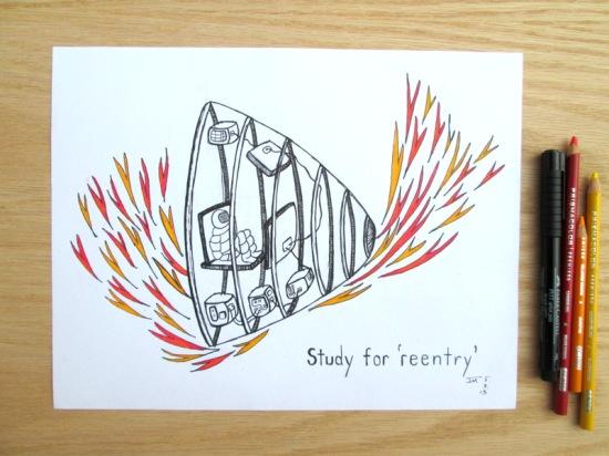 1. Study for 'reentry'. Joe Moma. 5.2015.