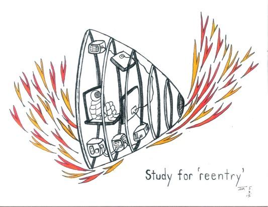 2. Study for 'reentry'. Joe Moma. 5.2015.