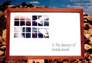 """In the absence of sound; sound."""