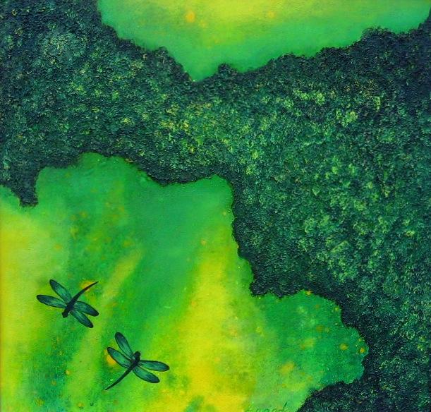 4.  Green Dragonflies