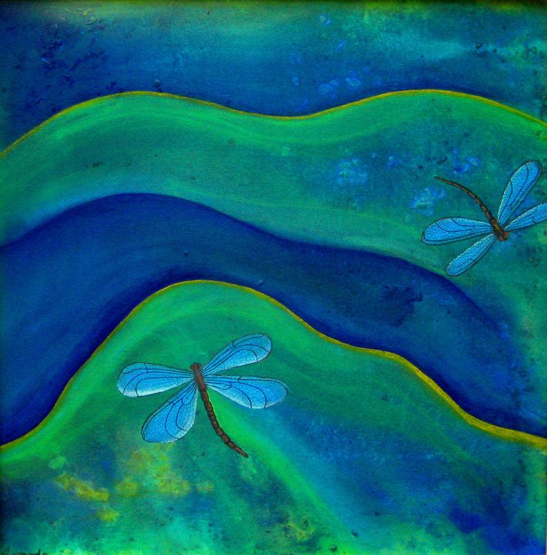 5.  Blue Dragonflies